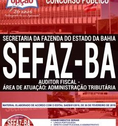 Download Apostila Concurso SEFAZ BA 2019