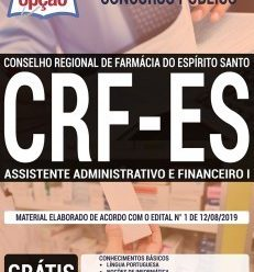 Apostila Concurso CRF ES 2019 PDF – Download Apostila